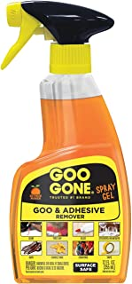 Goo Gone Adhesive Remover Original Spray Gel - Removes Chewing Gum, Grease, Tar, Stickers, Labels, Tape Residue, Oil, Blood, Lipstick, Mascara, Shoe Polish, Crayon - 12 Ounce