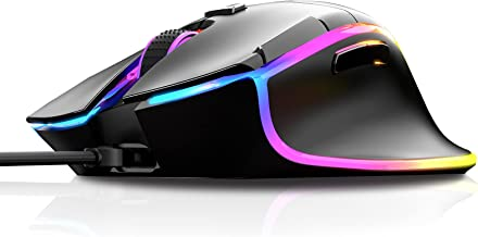 RBG Wired Gaming Mouse INPHIC PW8, 7 Programmable Buttons, Brilliant RGB Backlight LED, Max 7200 DPI with 6 Customizeable ...