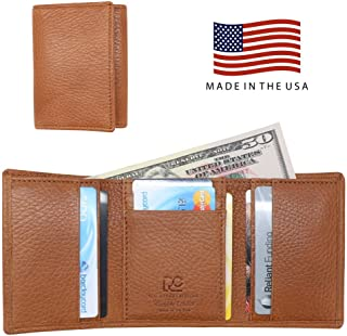 Made in the USA - Genuine Leather Trifold Wallets – RFID Blocking - American Factory Direct - Real Leather Creations
