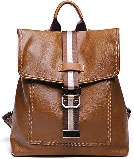 Vyaaa Backpack Shoulder Bag for Women Waterproof Synthetic Leather Daypacks Travel Bag Rucksack Brown