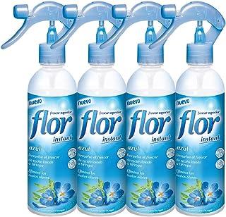 Flor Instant Perfumador para la ropa, fragancia azul - pack de 4