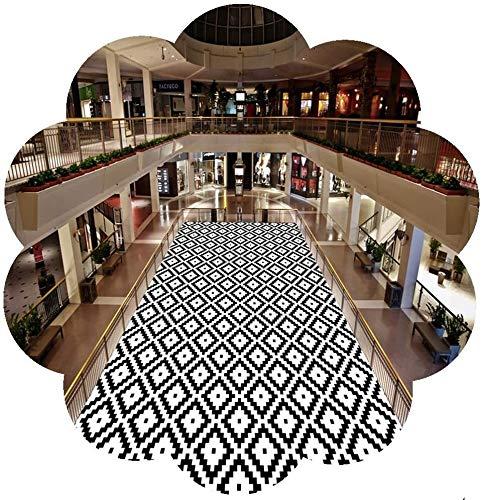 Korridor Teppich rutschfeste Lange Flurteppich für Hausküche Eingang Läufer Teppich rutschfeste Waschbare 3 Arten Schwarzweiß-Größe: 90x400 / 80x600cm Hall Rugs (Color : A, Size : 60x300cm)