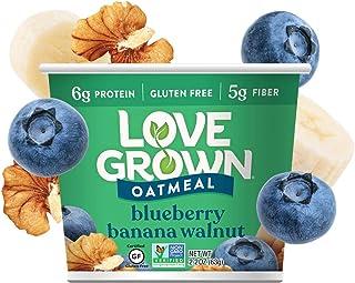 Love Grown Blueberry Banana Walnut Hot Oats, 2.22 oz. Cup, 8-Pack