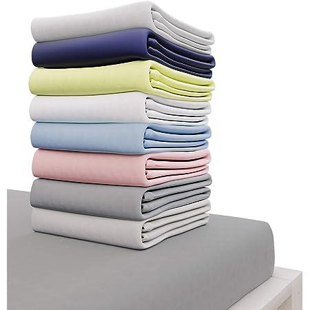 Dreamzie - Drap Housse 160x200 cm - 100% Coton Jersey Certifié Oeko-TEX® - Gris Anthracite - pour Matelas 160 x 200 x 27 cm avec Grands Bonnets et Elastique Complet