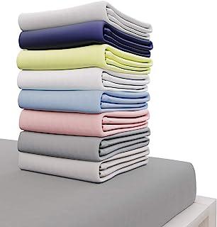 Dreamzie - Drap Housse 160x200 cm - 100% Coton Jersey Certifié Oeko-TEX® - Gris Anthracite - pour Matelas 160 x 200 x 27 c...