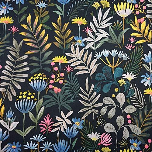 NOVELY Oxford 210D Polsterstoff - Bedruckt Print Wasserabweisend Dekostoff | D23 Dschungel Tropic Blumen Wiese