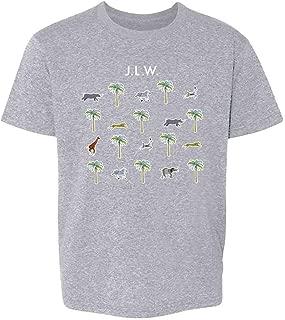 Pop Threads JLW Luggage Pattern Youth Kids Girl Boy T-Shirt