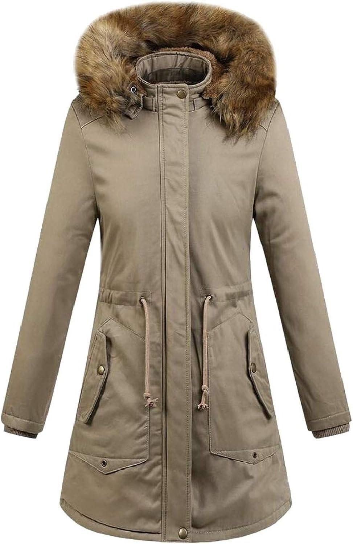 Gocgt Women's Winter Warm Down Coat Faux Fur Hooded Down Parka Puffer Jacket