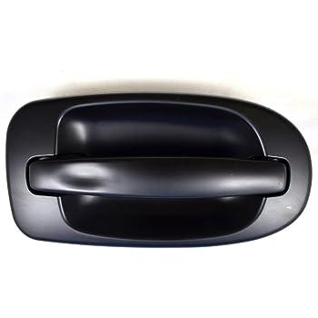 Primed Black Passenger Side Rear PT Auto Warehouse HY-3336P-RRK Outside Exterior Outer Door Handle
