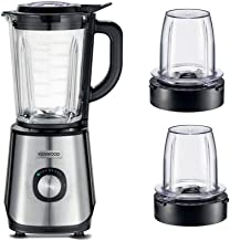 KENWOOD 1000W GLASS BLENDER, SMOOTHIE WITH 2MULTI MILL, 2Litre capacity, 2Speed With Pulse function, Ice crush Function, B...