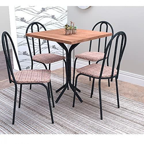 Conjunto de Mesa e 4 Cadeiras Thais Artefamol