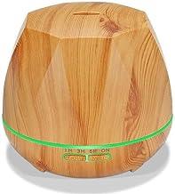 YUXO Humidificador Control Remoto Humidificador Esenciales De Aromaterapia Aceite Difusores Difusor Radiador Purificador De Aire del Hogar Brumizador (Size : Light Wood)