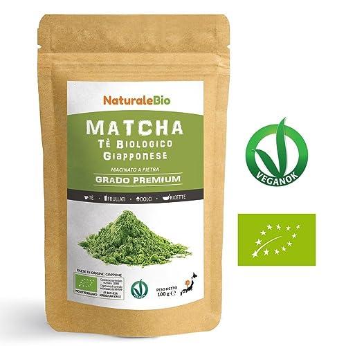Té Verde Matcha Orgánico Japonés En Polvo [ Calidad Premium ] 100g. Té Matcha Biológico