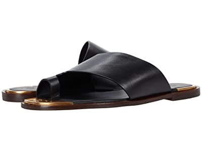 Tory Burch Selby Toe Ring Slide (Perfect Black) Women