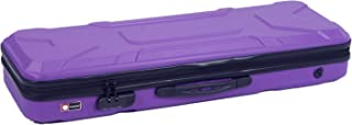 Crossrock CRA400VFPU 4/4 Full Size Violin Case, Zippered ABS Molded Backpack Style in Purple