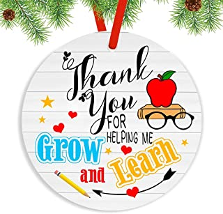 Ornament Thank You for Helping me Grow Ornament Gifts for Teacher, Thank You Gift for Teacher from Students, End of Year T...