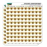 Bee on Honeycomb Heart Shaped Planner Calendar Scrapbook Craft Stickers