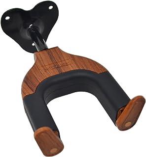 PUNK Guitar Hanger Wall Mount Hook with Auto Lock Safe for All Guitars Bass Violins Mandolins Ukulele Wood Look Design