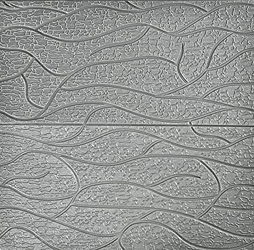 70 × 70 Cm DIY Muursticker 3D Imitatie Bakstenen Wandpaneel Zelfklevend Schuim Wanddecoratie Voor Achtergrond Muur Slaapkamer Woonkamer(Size:100pcs,Color:grijs)
