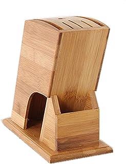 Fablcrew 1Pcs Bloc à Couteaux Universels en Bambou Porte-Couteaux de Cuisine Support Couteaux pour 6 Couteaux Organisation...