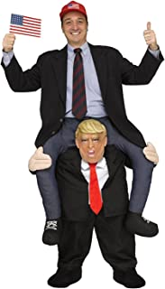 Halloween Ride On Shoulder Adult President Trump Ride On Costume