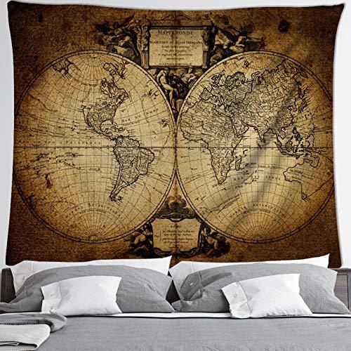 IMFFSE Mapa Colgando de la Pared Decoraciones de la Pared de la Pared de la Pared de la Pared de la Pared, Mapa del Mundo del Tapiz del Mundo,1,150 * 200cm