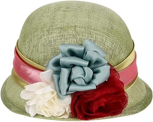 LIULAOHAN Unisexe Chapeau de Soleil pour Femmes Kentucky Derby Réglable Organza Grand Bord Floppy Prougeection UV Caps Casquette De Plage pour Le Mariage De L'église Chapeau Parfait
