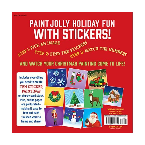 Paint-by-Sticker-Kids-Christmas-Create-10-Pictures-One-Sticker-at-a-Time-Includes-Glitter-Stickers