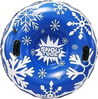CARACHOME Luge Bouée Gonflable avec poignée, Cercle de Ski Gonflable épaissi Taille Cercle Neige Ski Nautique luges d'hive...