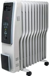 オイルヒーター S字型フィン11枚 (マイコン式 デジタル表示タッチパネル) ※1200/700/500W 3段階切替式 (8~10畳用、サーモスタット自動温度調節機能付/24時間タイマー)
