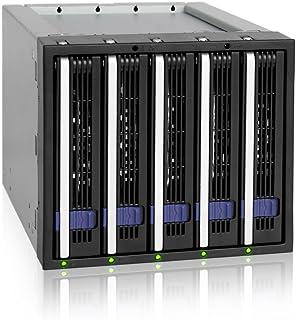 Icy Dock FatCage MB155SP-B - Carcasa 5 x 3.5 Hot Swap SATA HDD en 3 x 5.25 bahías