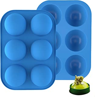 【2 PACK】Silicone Molds for Hot Chocolate Bombs, Cake, Jelly, Dome Mousse, Pudding, BPA Free Semi Sphere Mould Baking Silic...