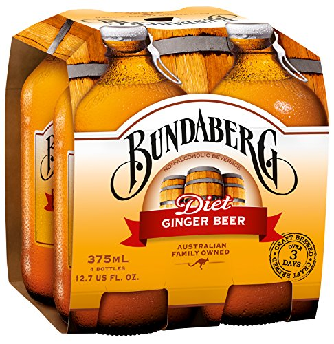 Bundaberg Diet Ginger Beer, 375 Ml (Pack of 24)