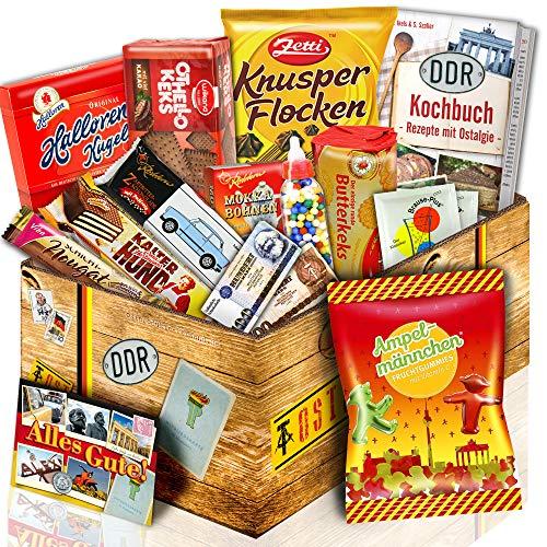 Fruchtgummis Ampelmännchen + Ost Set mit Süßigkeiten - Süßigkeiten aus der DDR