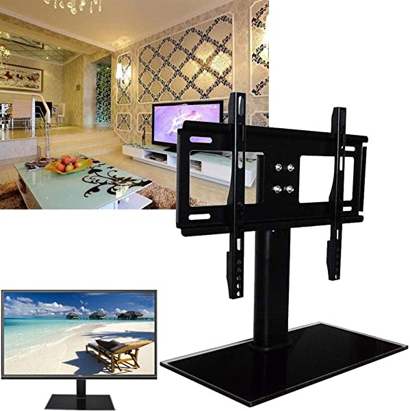 Yosooo Universal TV Stand Black TV Table Top Stand Height Adjustable TV Base Stand TV Flat Screens Mount Bracket D800 26 32 D800 37 55 D900 52 71 26 32inches
