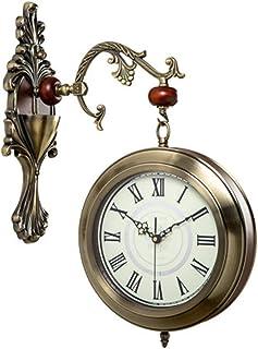 Reloj De Pared De Números De doble cara pared del sitio del Reloj Reloj En Vida hogar creativo de Bell dos caras del reloj...