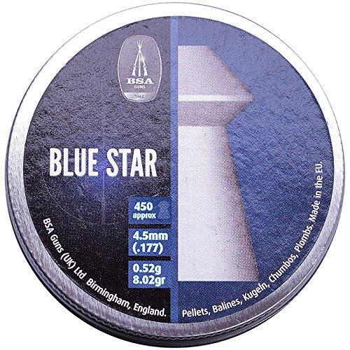 Bsa Estrella Azul .177 4.5mm Pesado PELLETS 450 ESCOPETAS RIFLE AIRE CAZA BLANCO