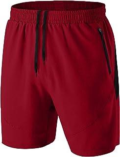 HMIYA Pantaloncini Running Uomo Leggero Sportivi Shorts Asciugatura Veloce Palestra Corsa Calzoncini con Tasca con Cerniera