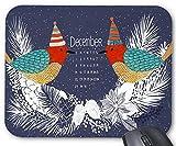 Dezember 2017 kalender und birds design moues pad