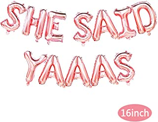 She Said Yaaas Balloons,She Said Yaaas Banner ,Bachelorette Party, Bridal Shower, Engagement Party
