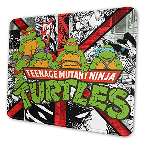 Teenage-Mutant-Ninja-Turtles Mouse Pad Rubber Non-Slip, Strong Adhesion, Thick, Durable and Environmentally Friendly, Suitable for Office, Games, Etc.