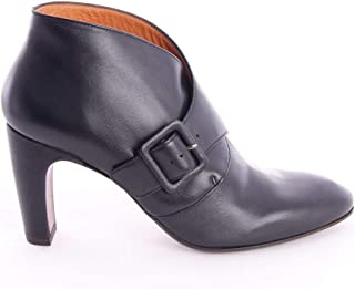 Boots with Heel in Black Leather, Womens.