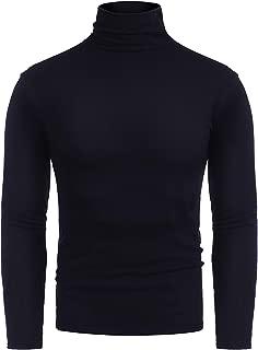 Mens Basic Turtleneck Thermal Long Sleeve T-Shirt Sweatshirt Cozy Pullover Tops