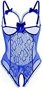(✿◠‿◠)♡Fashion Women Sex Attraction Lace Perspective Tempted Multicolor with Silver Slik Lingerie Underwear