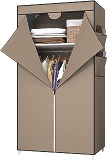 UDEAR Armoires Portables, Housse en Tissu Non Tissé avec 4 Poches latérales, Dressing de la Chambre, Facile à Assembler,Ma...
