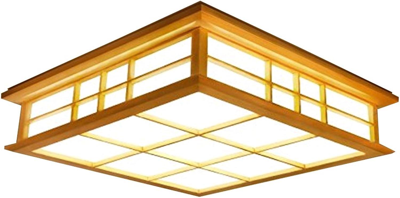 GQLB Im japanischen Stil lampe Decke 24 W Massivholz Lampe ...