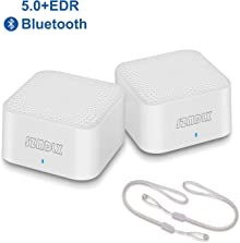 SZMDLX Mini Bluetooth 5.0 Speaker, Portable True Wireless Stereo Speaker with Hook, Dual Pairing Bluetooth Speaker, Small Pocket Size for Home Office Travel Outdoor (2 Pack)