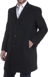 """Luke Mens 3 Button Tailored Wool 37"""" Walker Car Coat"""