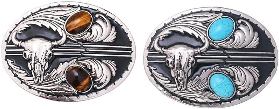 Jiazhenghe In a popularity bolo tie 2X Gem Belt Buckle Unisex Head Rodeo Co Bull supreme
