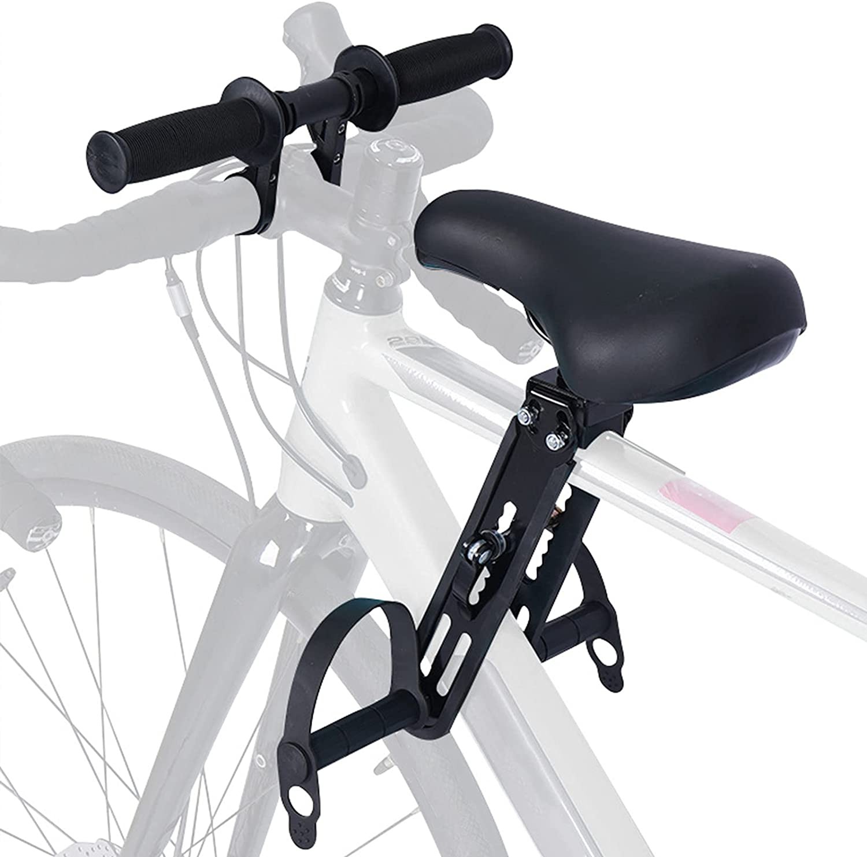 papasgix Bicycle Handlebar Extension Child Bicycle Seat Bike Seat for Kids Child Bike Seat Baby Bike Seat Bike Seat for Kids on Adult Bike Baby Bike Attachment for Adult Bike (Black seat + Handlebar)